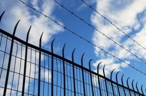 Spiked Fence Silhouette