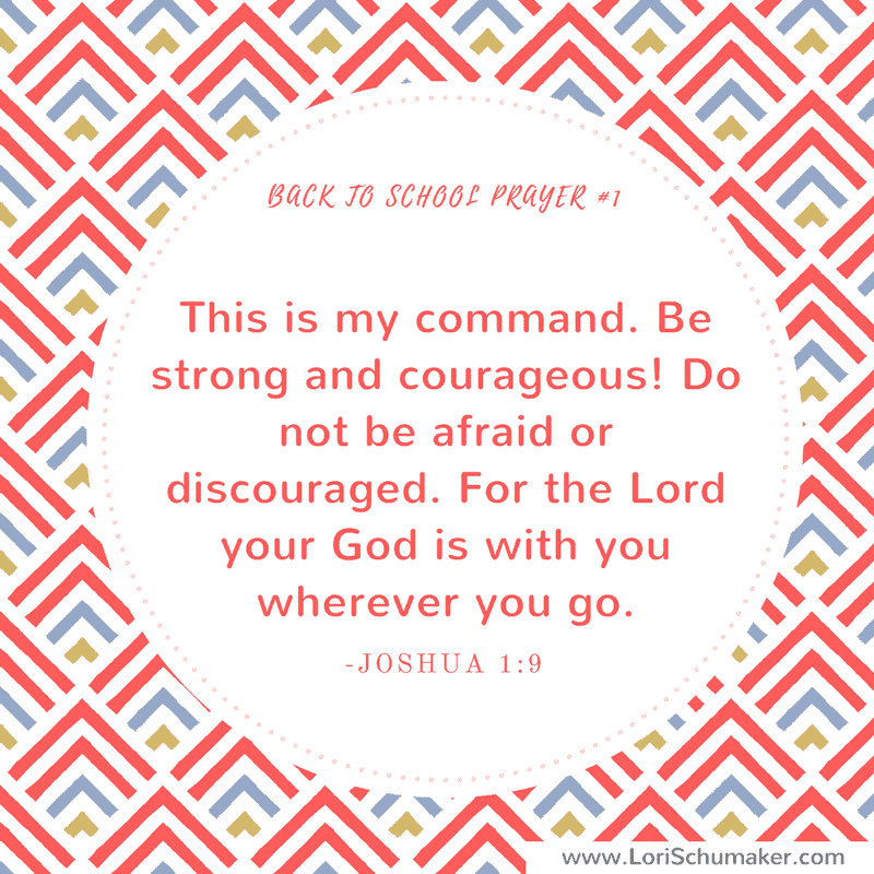 Instead of letting fear or chaos take over your life, pray these back to school Bible verses for your children. Preparing with prayer is the most powerful thing any parent can do. Print these free prayer cards for instant encouragement! Joshua 1: 9 #printableprayercards #printablebibleversecards #bibleverses #hope #parenting #christianparenting #backtoschool #pandemiceducation #prayer #motherhood #godslove