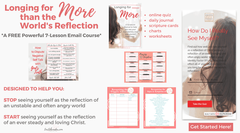 In this free online Bible course, learn your Identity Factor, how it effects you, and how to see yourself as more than the world's reflection | #identityinChrist #identity #freeonlinecourse #journal #prayer #selfhelp #identity #selfworth #godslove #emailcourse #selftalk #holyconfidence