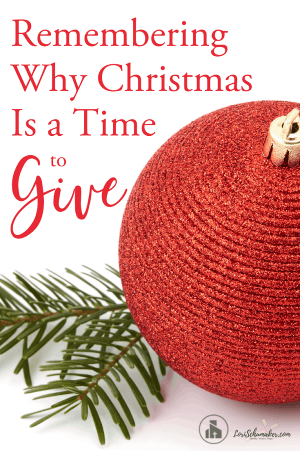 Remembering Why Christmas Is a Time to Give | There's a reason for all the gift giving — an important one. It's about the first gift ever given and the sacrifice behind it. #christmas #giving #gifts #christianliving #followingjesus