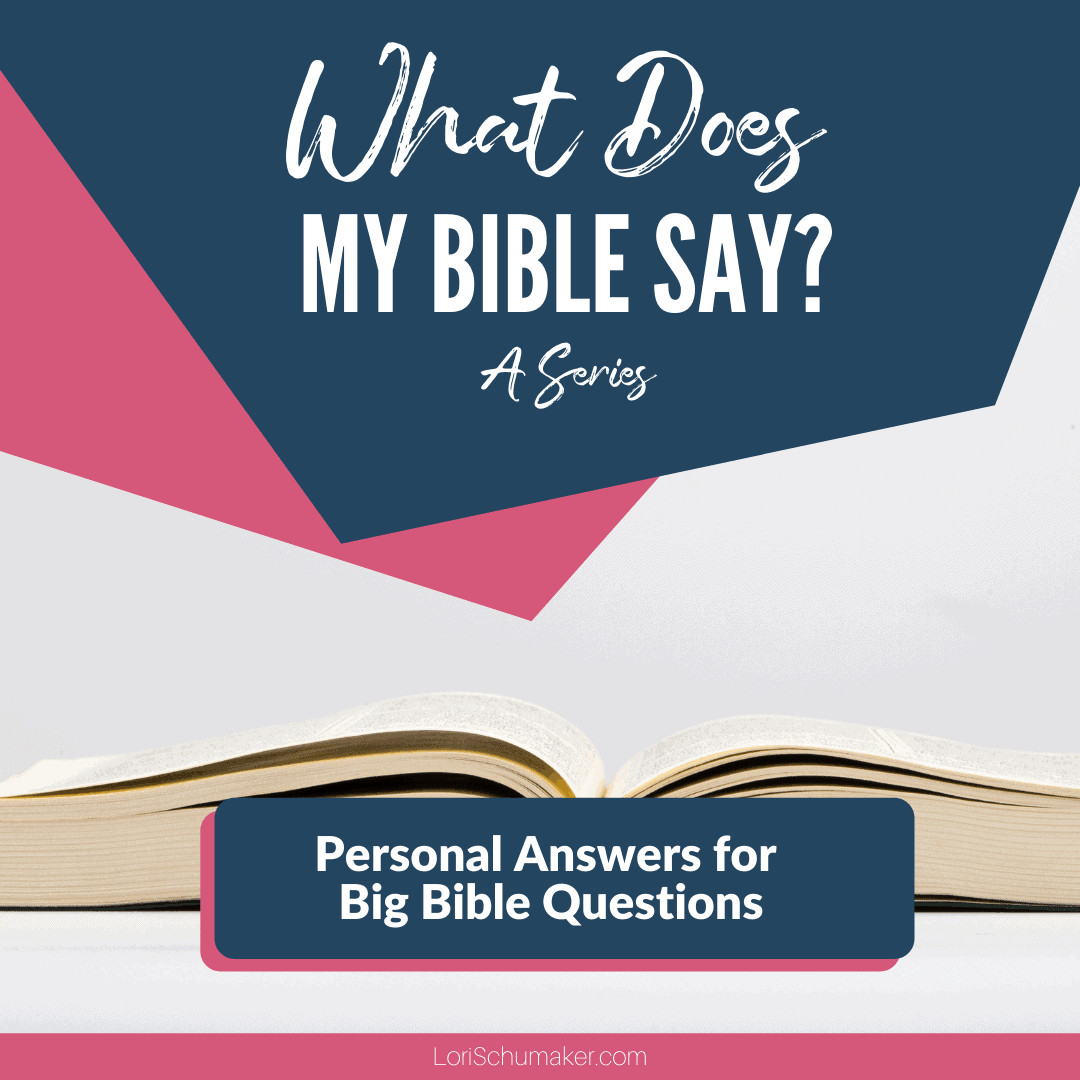 What Does My Bible Say? Personal Answers to Your Big Bible Questions